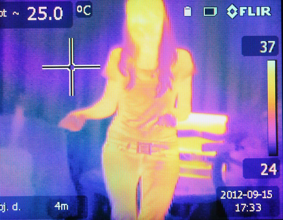COVID-19 thermal imagery scanner